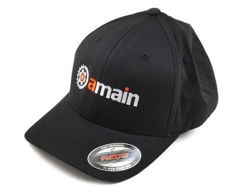 AMain FlexFit Hat w/Gears Logo (Black) (XL/2XL)