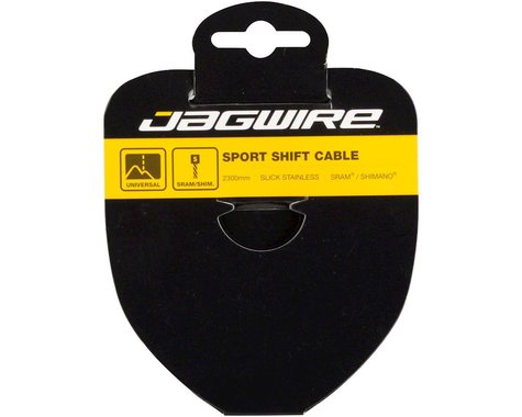 Jagwire Sport Slick Derailleur Cable (Shimano/SRAM) (1.1mm) (2300mm) (1 Pack) (Stainless)
