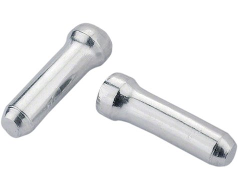 Jagwire Cable End Crimps (Silver) (1.8mm) (Bottle of 500)