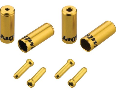 Jagwire End Cap Hop-Up Kit 4.5mm Shift and 5mm Brake (Gold)