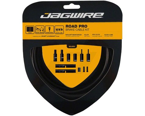 Jagwire Road Pro Brake Cable Kit (Stealth Black) (Stainless) (1.5mm) (1500/2800mm)