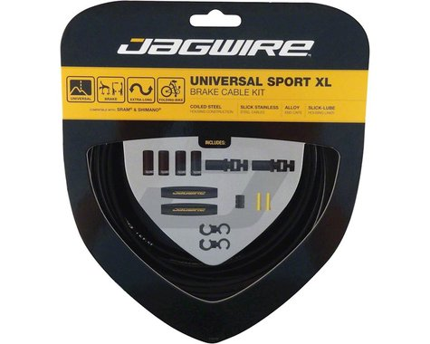 Jagwire Universal XL Sport Brake Cable Kit (Black) (Stainless) (Road & Mountain) (1.5mm) (2000/2500mm)