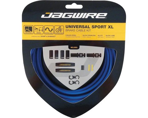 Jagwire Universal XL Sport Brake Cable Kit (Blue) (Stainless) (2000/25000mm) (2)