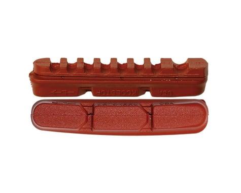 Kool Stop Dura2 Brake Pad Inserts (Black/Red) (1 Pair) (Salmon Compound)