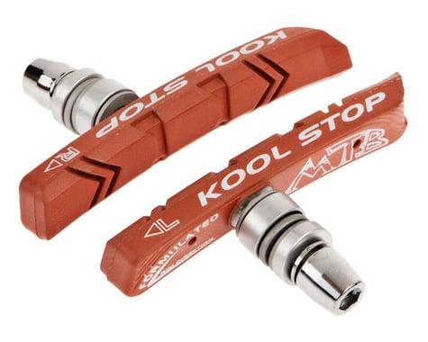 Kool Stop Mountain V-Brake Pads (Black/Red) (1 Pair) (Salmon Compound)