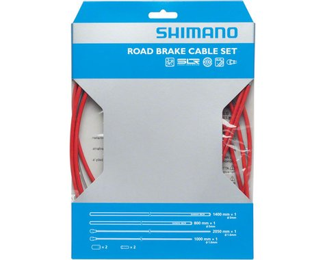 Shimano Road PTFE Brake Cable & Housing Set (Red) (1.6mm) (1000/2050mm)