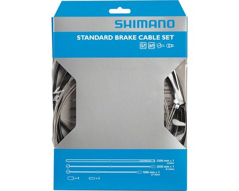 Shimano MTB Stainless Brake Cable and Housing Set (Black)